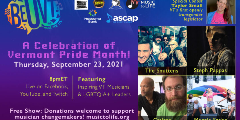 BeUVT: A CELEBRATION OF VERMONT PRIDE MONTH